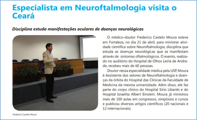 Palestra sobre Edema de Papila no Curso de Atualização em Neuroftalmologia