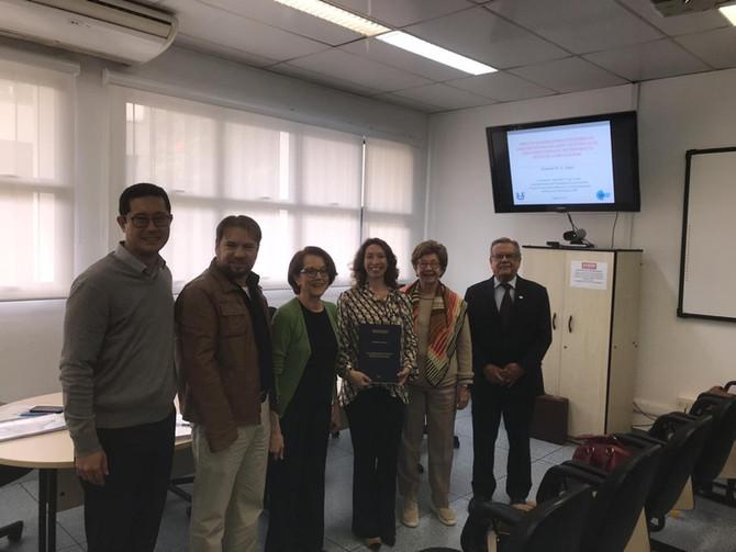 Dra. Roberta Zagui recebe título de Doutora em Ciências pela USP.