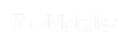 T-Mobile logo white with transparency -