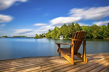 shutterstock License Pic (chair by lake)