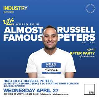 Russell Peters Tour Afterparty Tomorrow At EFS