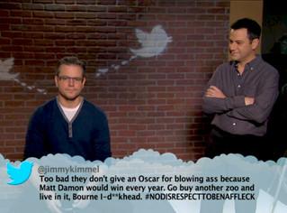Wow. Jimmy Kimmel REALLY hates Matt Damon.