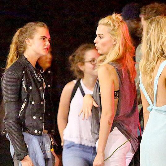 Margot Robbie, Cara DeLevigne & I