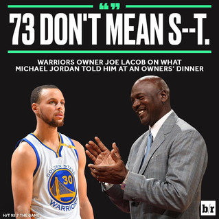 Here's What Michael Jordan REALLY Thinks About Golden State's 73 Win Season