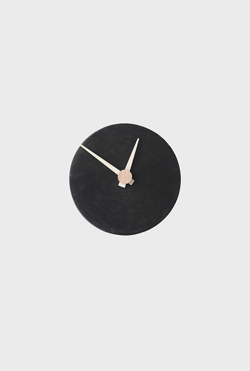 Full Moon - wall clock - carbon