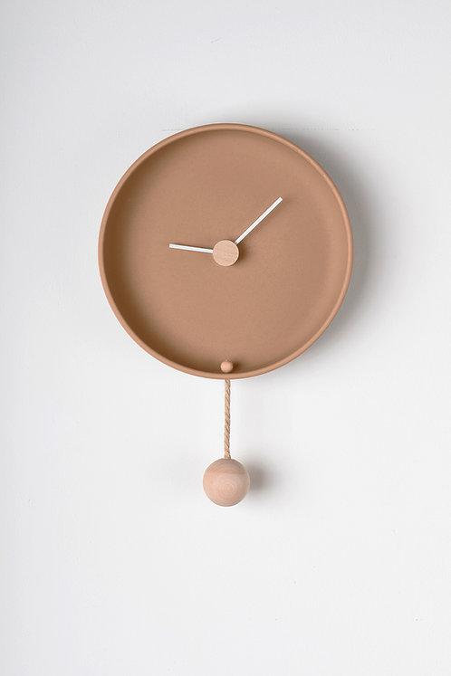 Totide' Wall clock - big - Terracotta