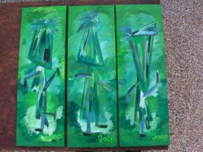 Green Tryptech Dancers