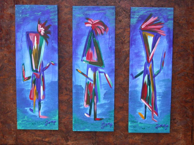 Trip Tech Dancers Blue