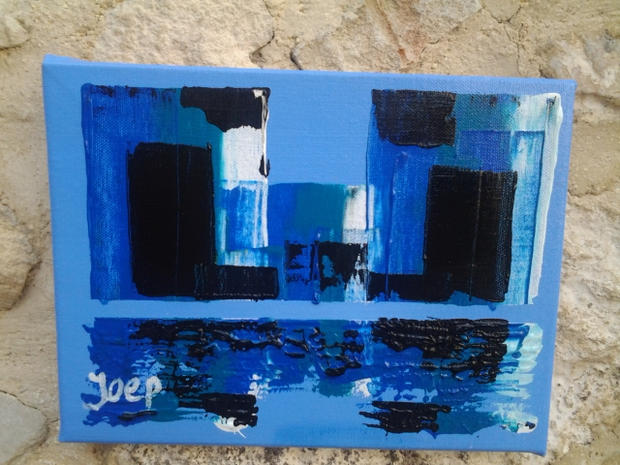Acrylic 25 30 Reflections in Blue