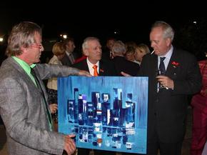 The Ambassador and Yme van den Born