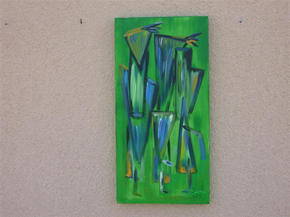 Mirror image green - Diptych left