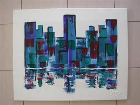 Blue Towers 80-100 acryl
