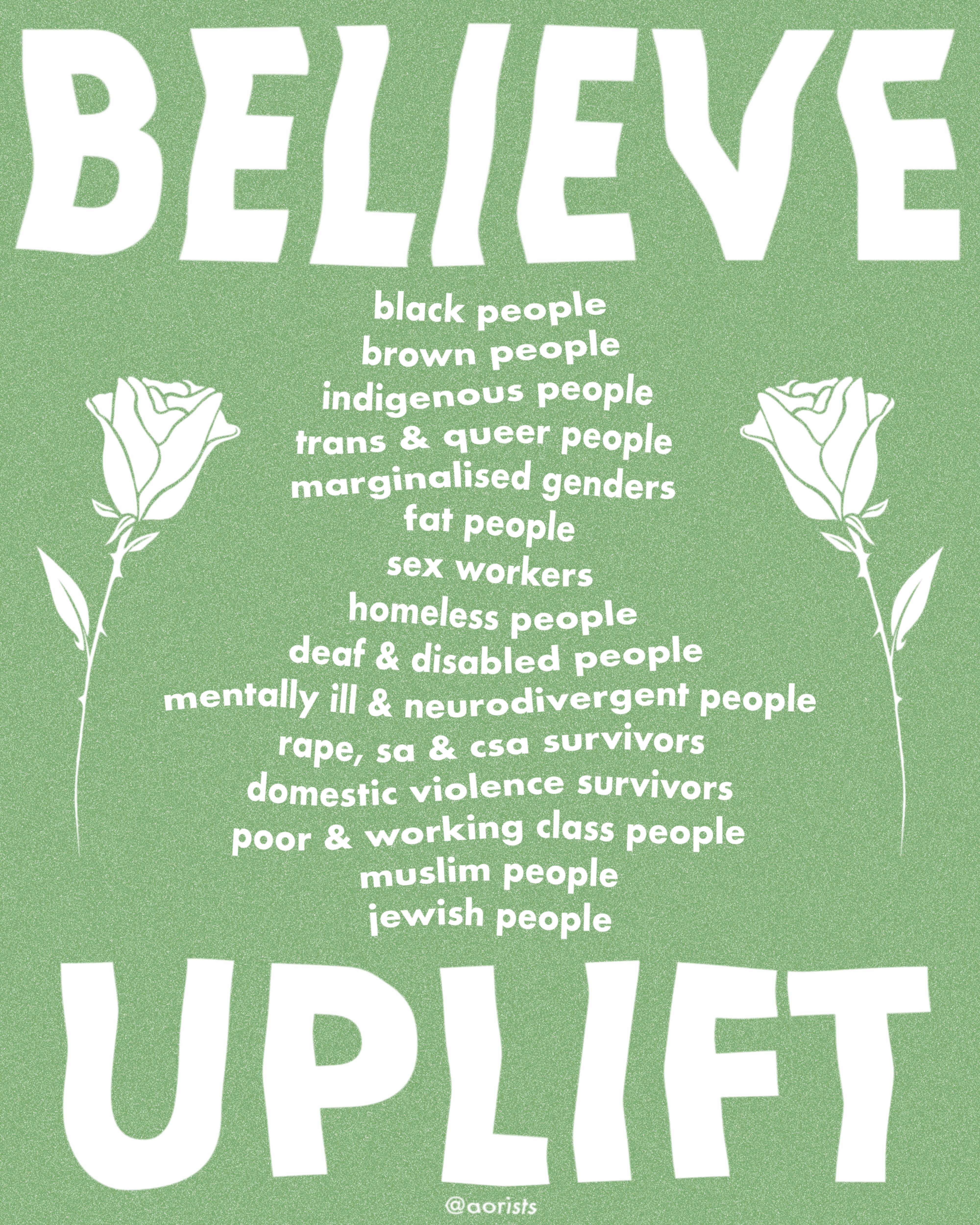 BELIEVE & UPLIFT