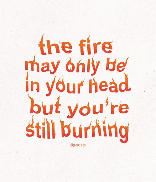 BURNING | art print