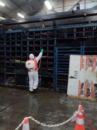 Sanitizacion y Desinfeccion a Barraca de Fierros B&M 08/07/2020. Valparaiso