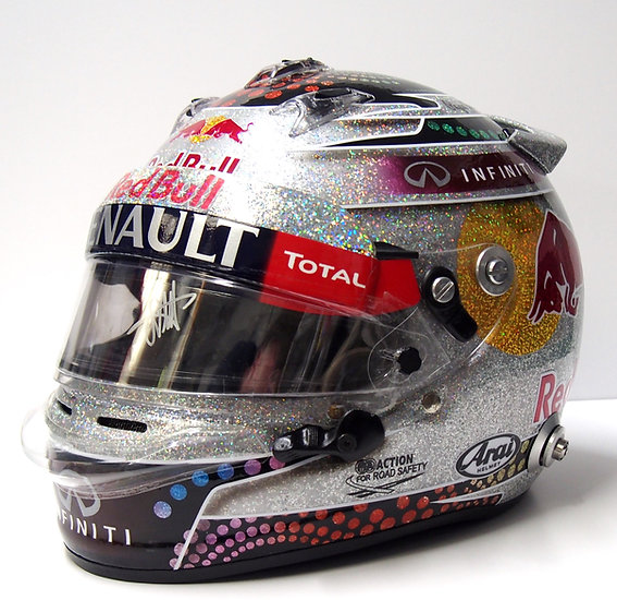 2013 Sebastian Vettel signed Reb Bull Racing visor -  Singapore Special
