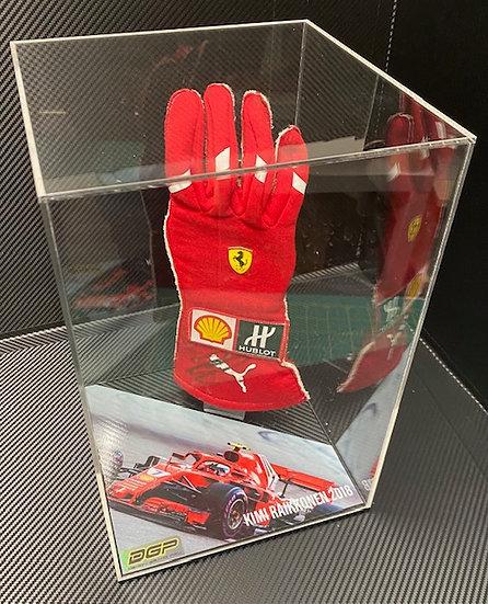 Kimi Raikonen 2018 signed used glove