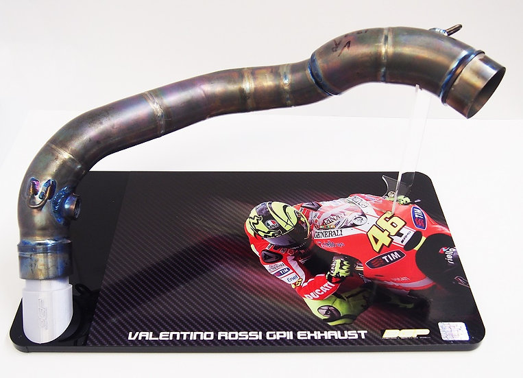 Valentino Rossi exhaust header pipe