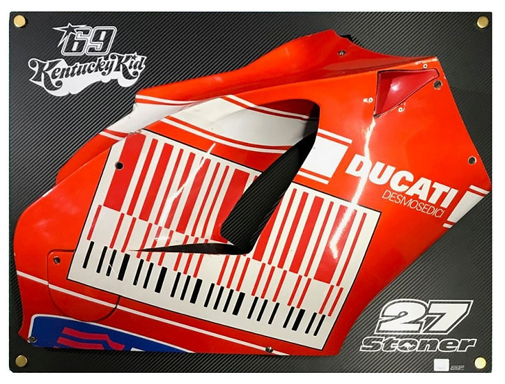 GP9 fairing side used by two world champions