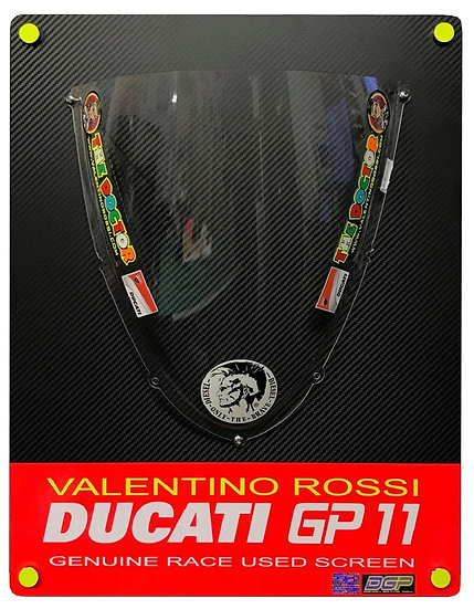 Valentino Rossi GP11 race used screen