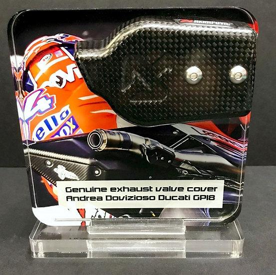 Andrea Dovizioso exhaust valve cover GP18