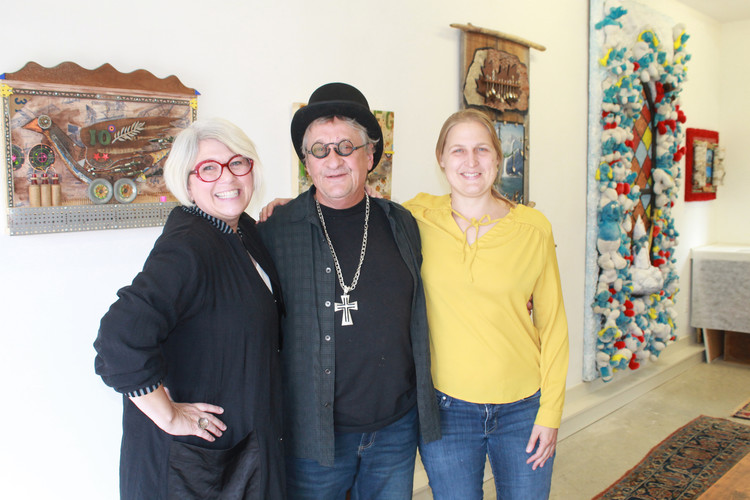 Outsider Artists Laurie Langford, Norman Barney, and Karine Giboulo