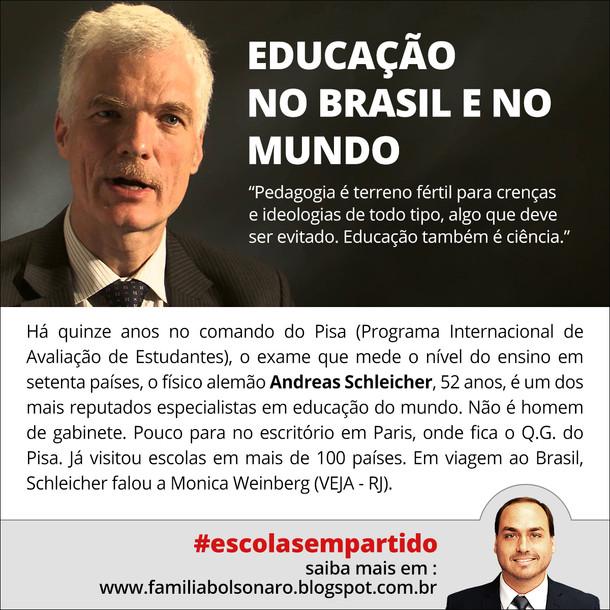 A DIFERENÇA ENTRE A EDUCAÇÃO NO BRASIL E NO MUNDO.