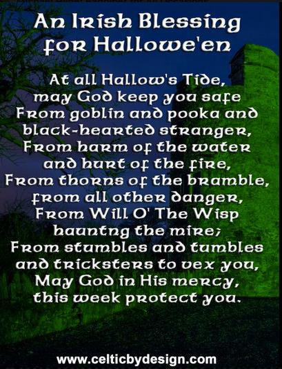 Irish Blessing for Halloween