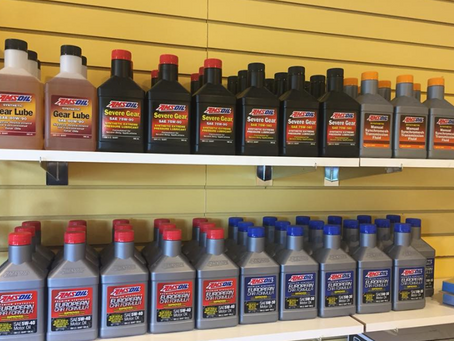 AMSOIL products at Mr. Oil
