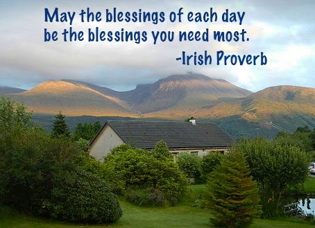 To blessings in abundance