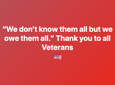 From the Mr. Oil Crew this Veteran's Day