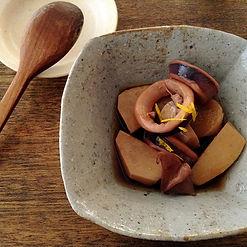 里芋とイカのうま煮