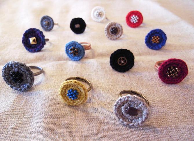 kiinoさんの糸編み指輪