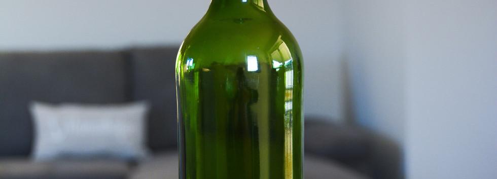 Weinflaschen-Windlicht