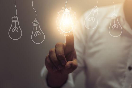 creative idea.Concept of idea and innova