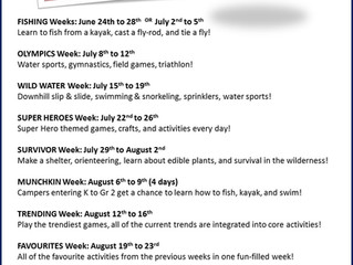 Summer 2019 Nature Camp is full!