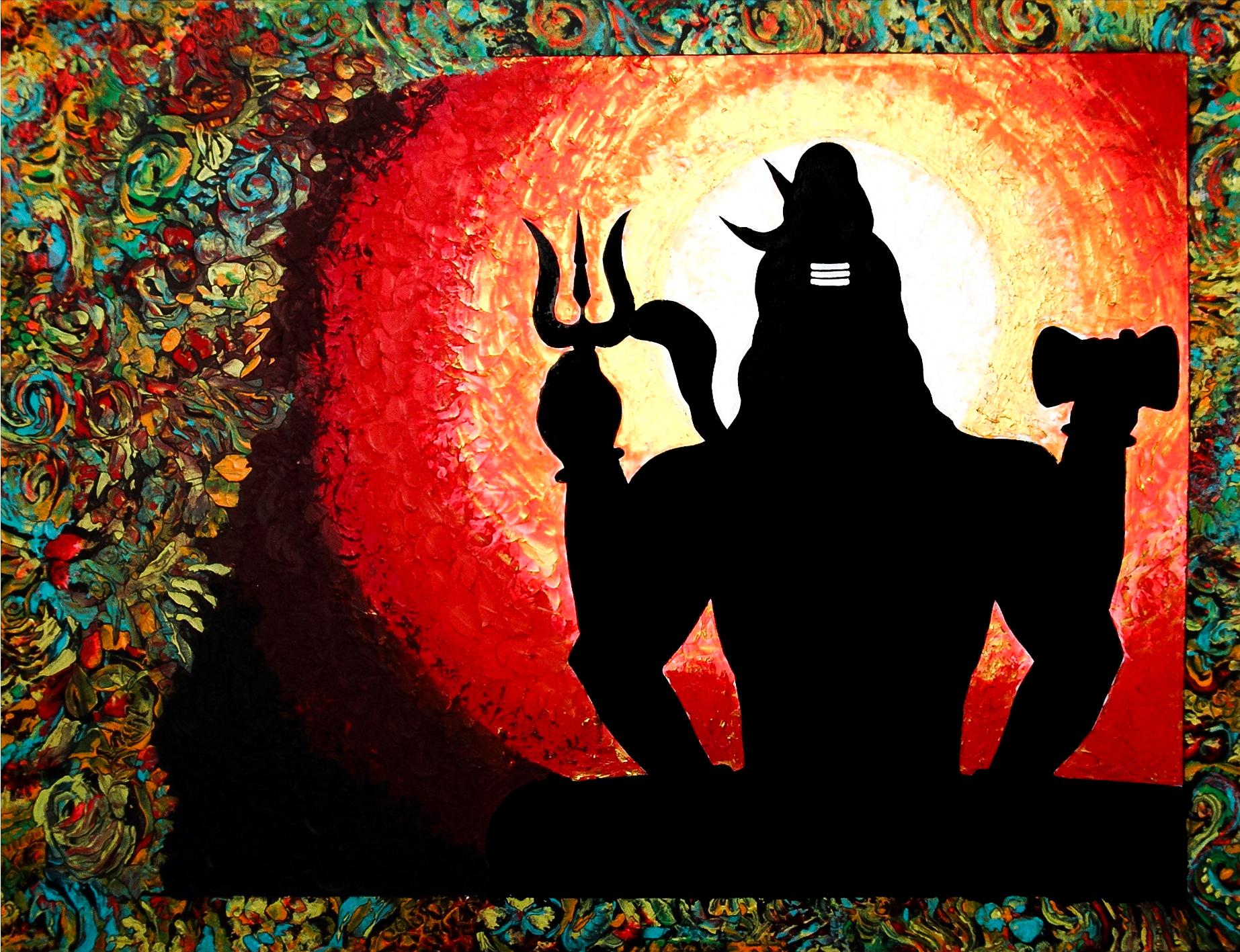 Shiva in meditation (sold)