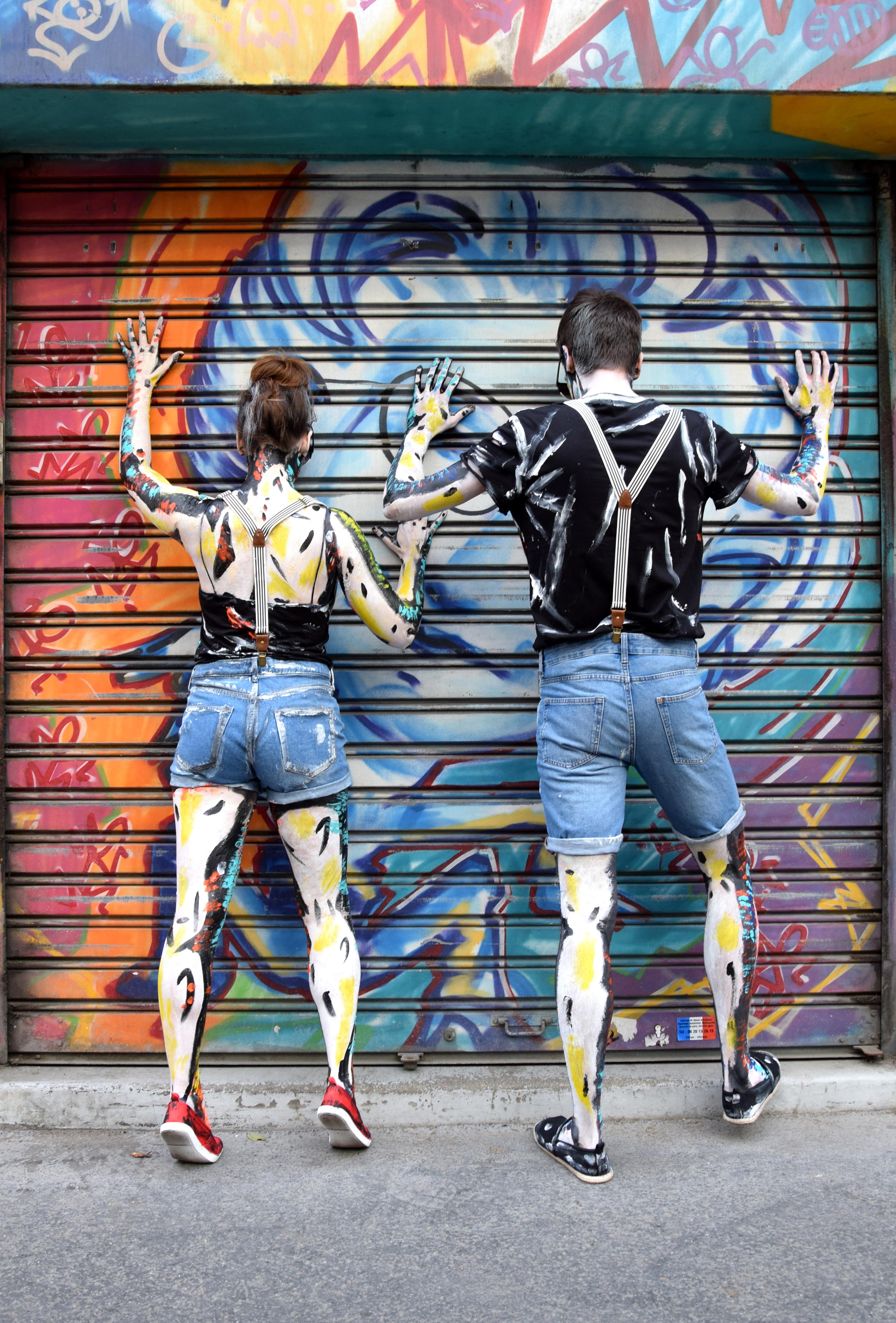 Body painting, Paris, April 2017