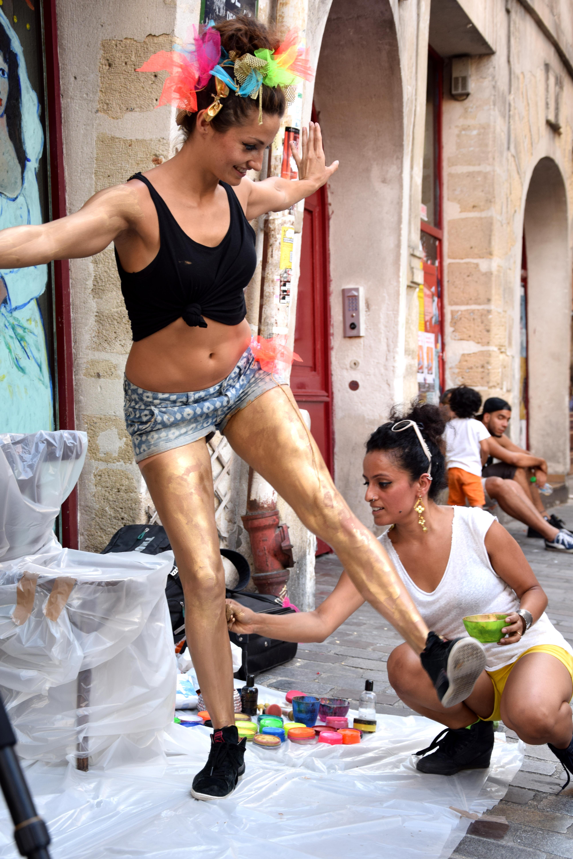 Street show, Le Marais, Pari