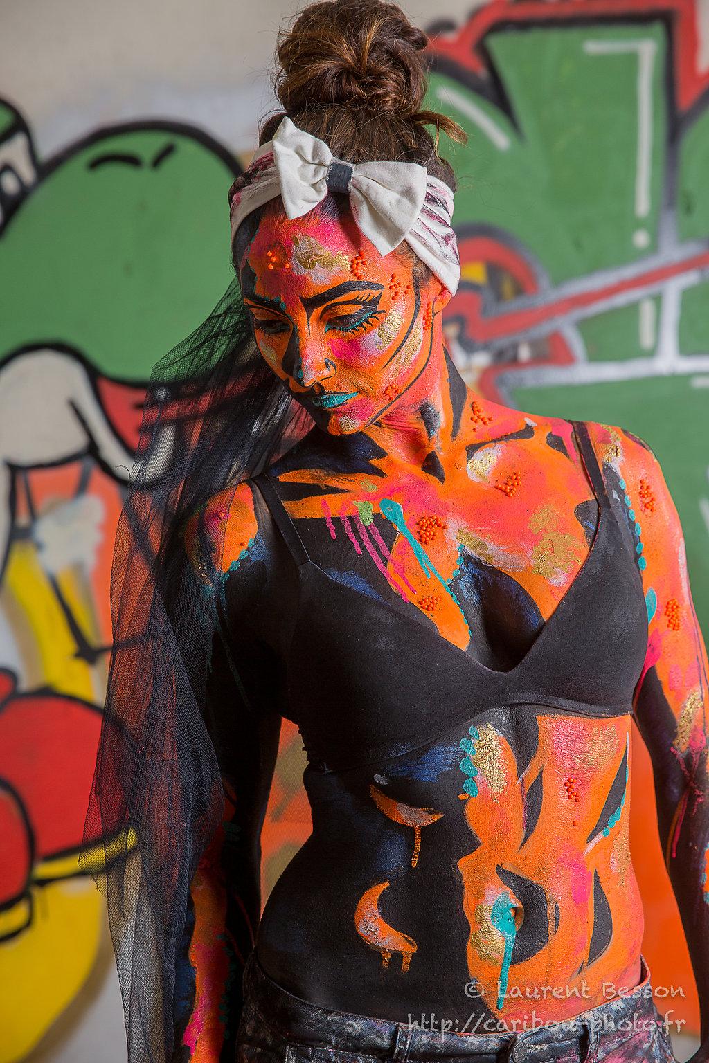 Power pop girl, Paris, Sep 2016