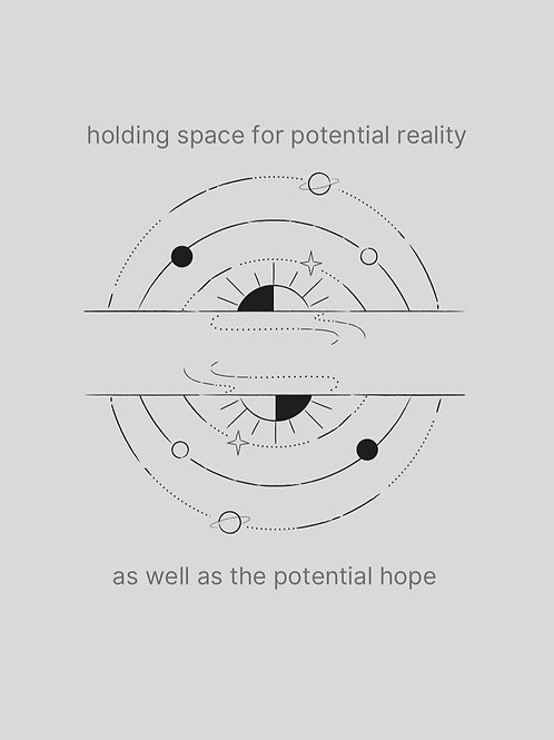 holding space //