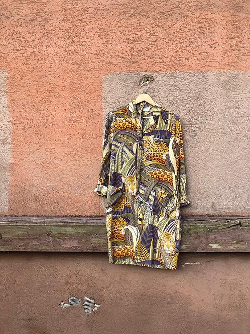 Rare Vintage SALVATORE FERRAGAMO Rainforest Dress