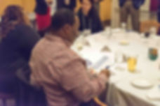Attendee at Poverty and Education Dinner Round Table