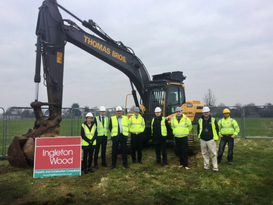 Turf cutting at Biggleswade Academy