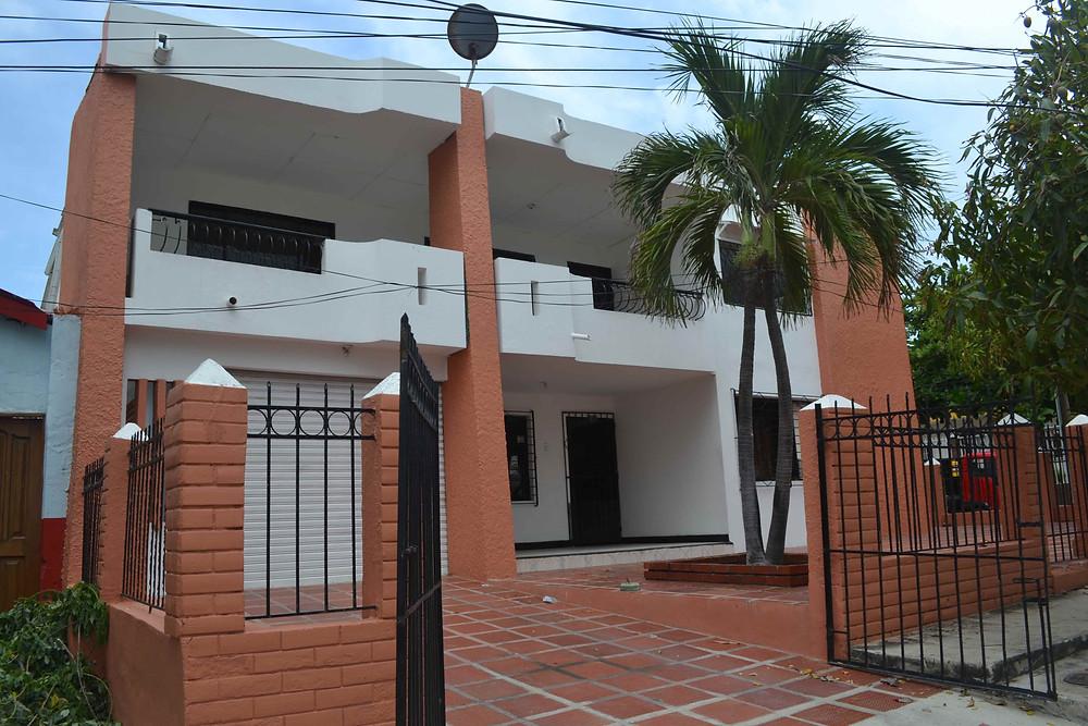 Fachada, casa en arriendo barrio modelo barranquilla