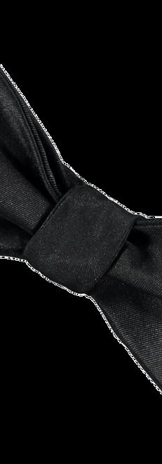 Black Silk Bowtie