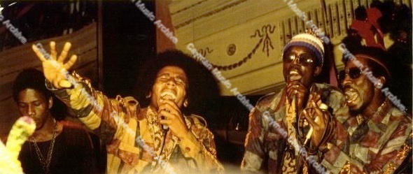 Bob Marley Peter Tosh and Bunny Wailer at show