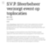 S.V.P. Sfeerbeheer verzorgt event op toplocaties