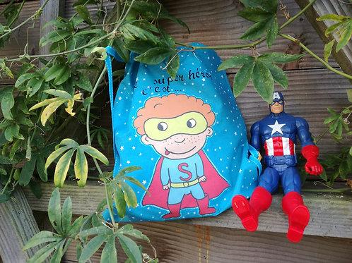 """sac à dos """"le super héros c'est ... !!!"""""""