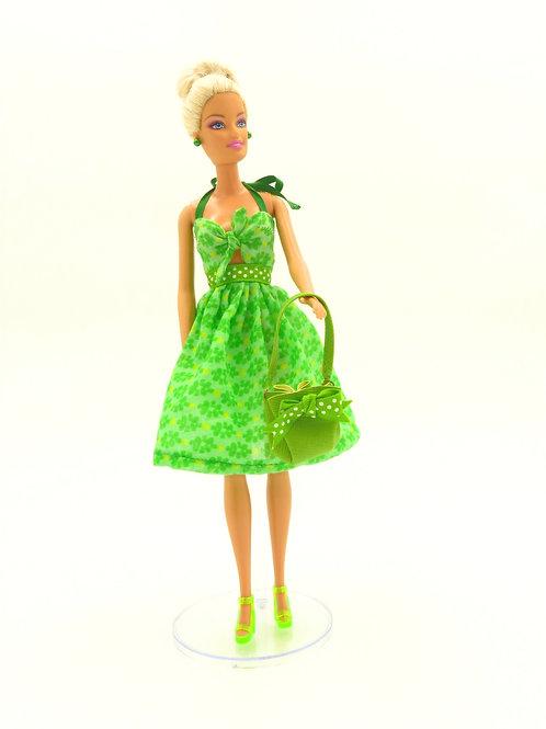 """Robe d'été """"mojito"""" pour Barbie"""